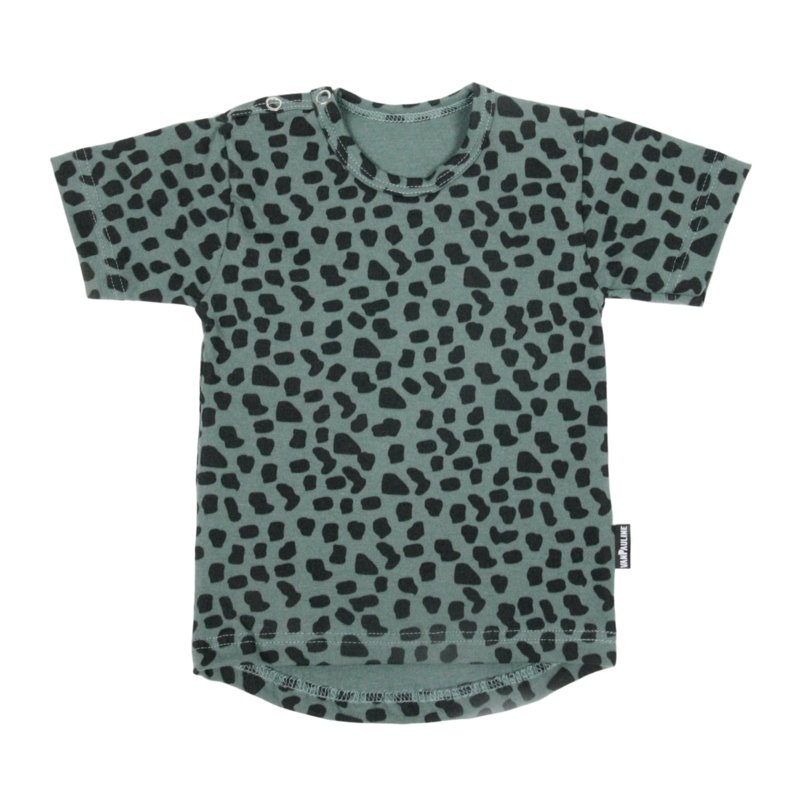VanPauline GREEN SHIRT FOR KIDS | T-SHIRT WITH DOTS PRINT | BABY CLOTHING