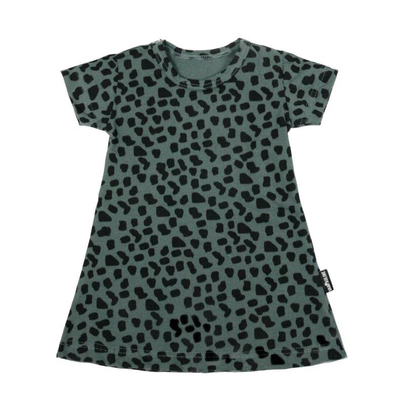 VanPauline GIRL DRESS | GREEN DRESS WITH DOTS PRINT | BABY CLOTHING