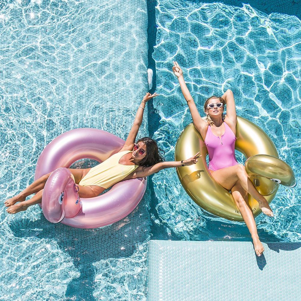 Swim Essentials OPBLAASBARE FLAMINGO   ZWEMBAND VOOR VOLWASSENEN   6+ JAAR