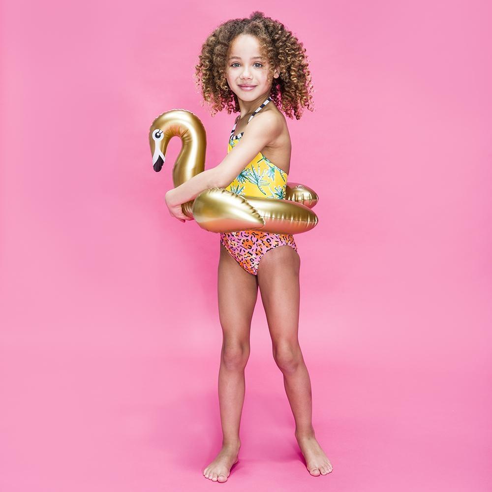 Swim Essentials OPBLAASBARE ZWAAN | ZWEMBAND VOOR KINDEREN | 3+ JAAR