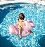 Swim Essentials OPBLAASBARE ROZE FLAMINGO | GROOT LUCHTBED | ZWEMBAD SPEELGOED