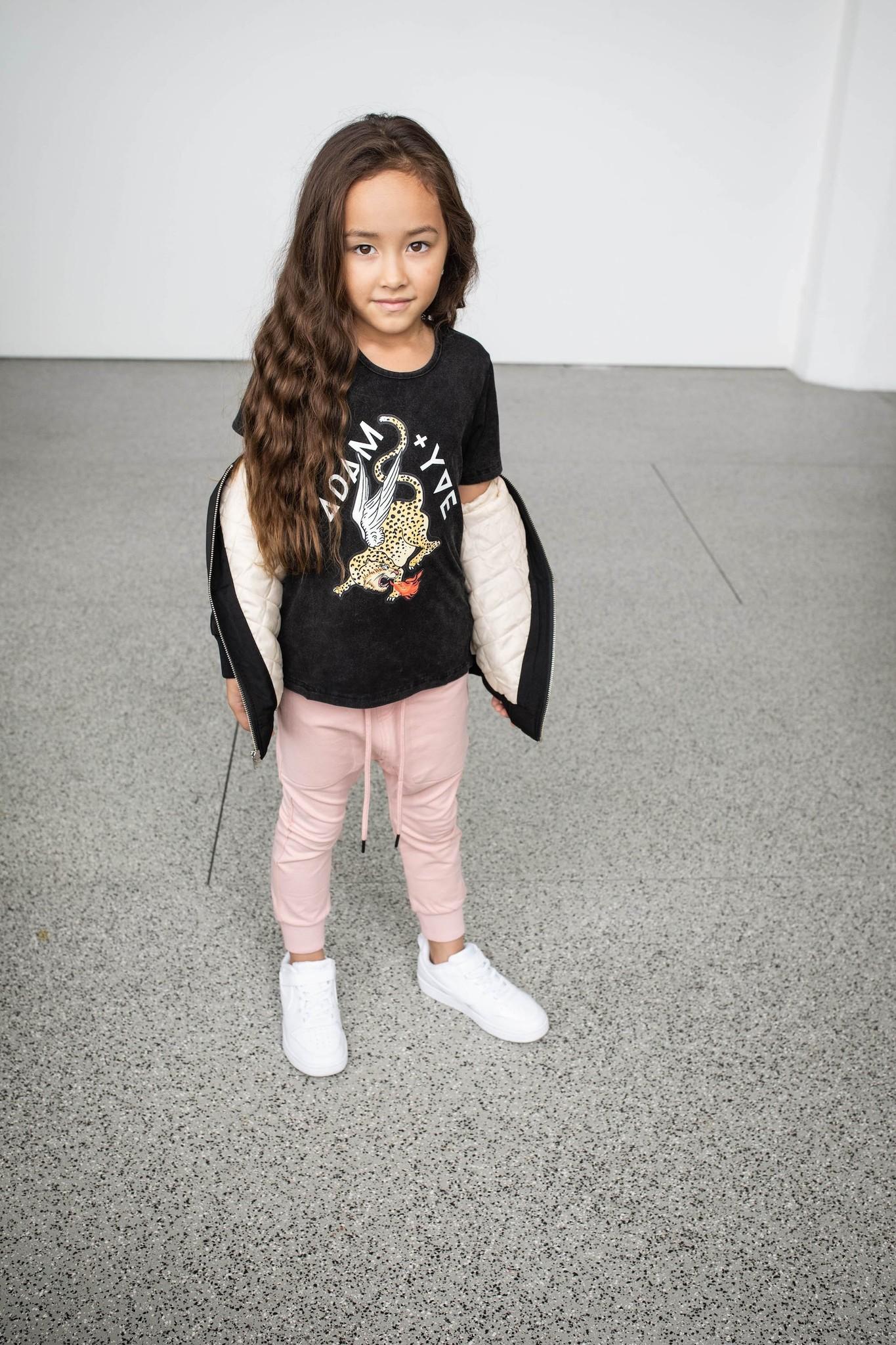 Adam + Yve EXTRA LONG T-SHIRT   COOL LEOPARD SHIRT   CHILDREN'S CLOTHING