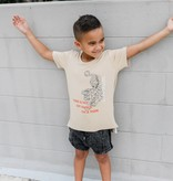 Adam + Yve BEIGE T-SHIRT FOR BOYS | COOL SHIRT | CHILDREN'S CLOTHING