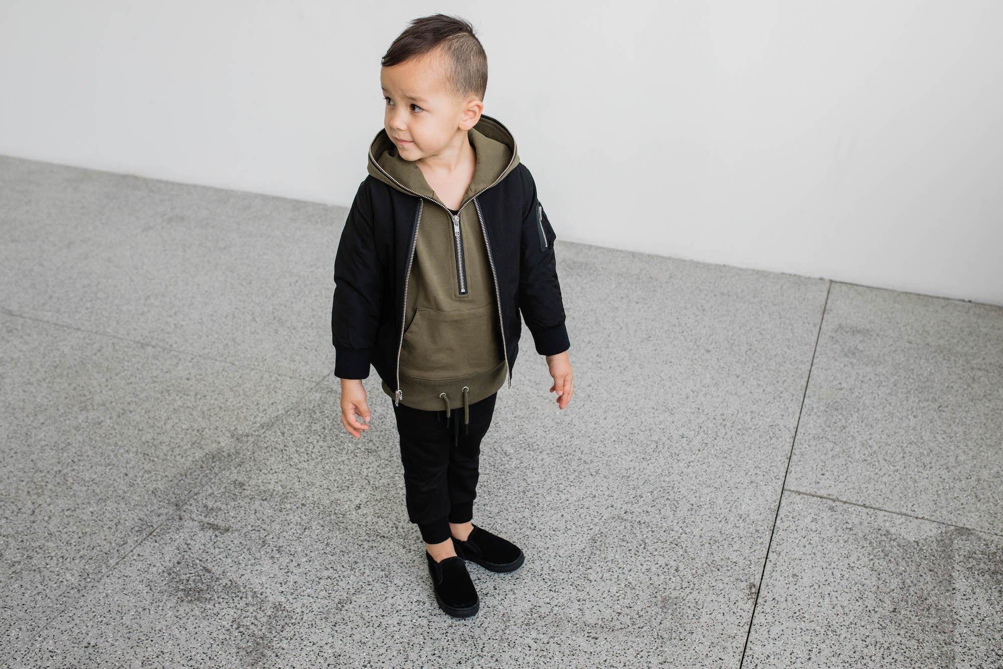 Adam + Yve KHAKI GREEN HOODIE FOR BOYS BOLD LONG HOODIE   BOLD BOY CLOTHING