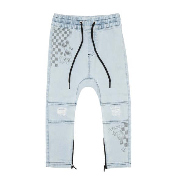 Adam + Yve MICKEY GRAFFITI DENIM JOGGERS