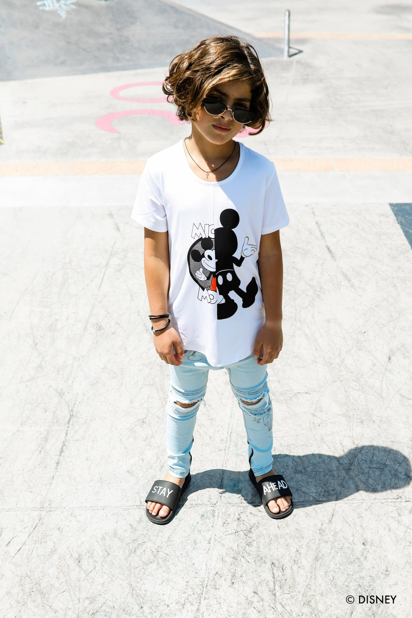 Adam + Yve WHITE BASIC SHIRT FOR BOYS   COOL CLOTHING MICKEY MOUSE   CHILDREN'S CLOTHING