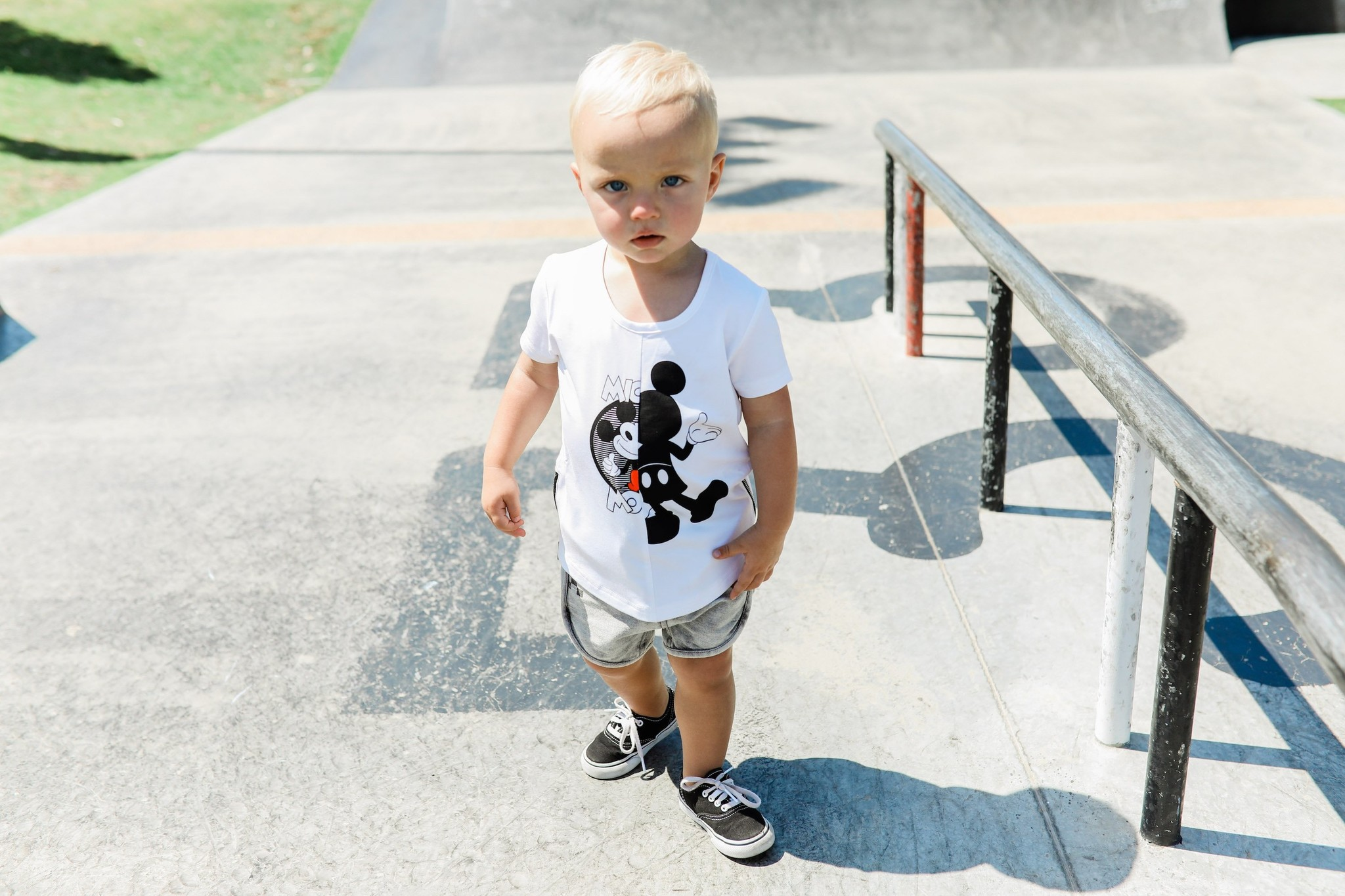 Adam + Yve WHITE BASIC SHIRT FOR BOYS | COOL CLOTHING MICKEY MOUSE | CHILDREN'S CLOTHING
