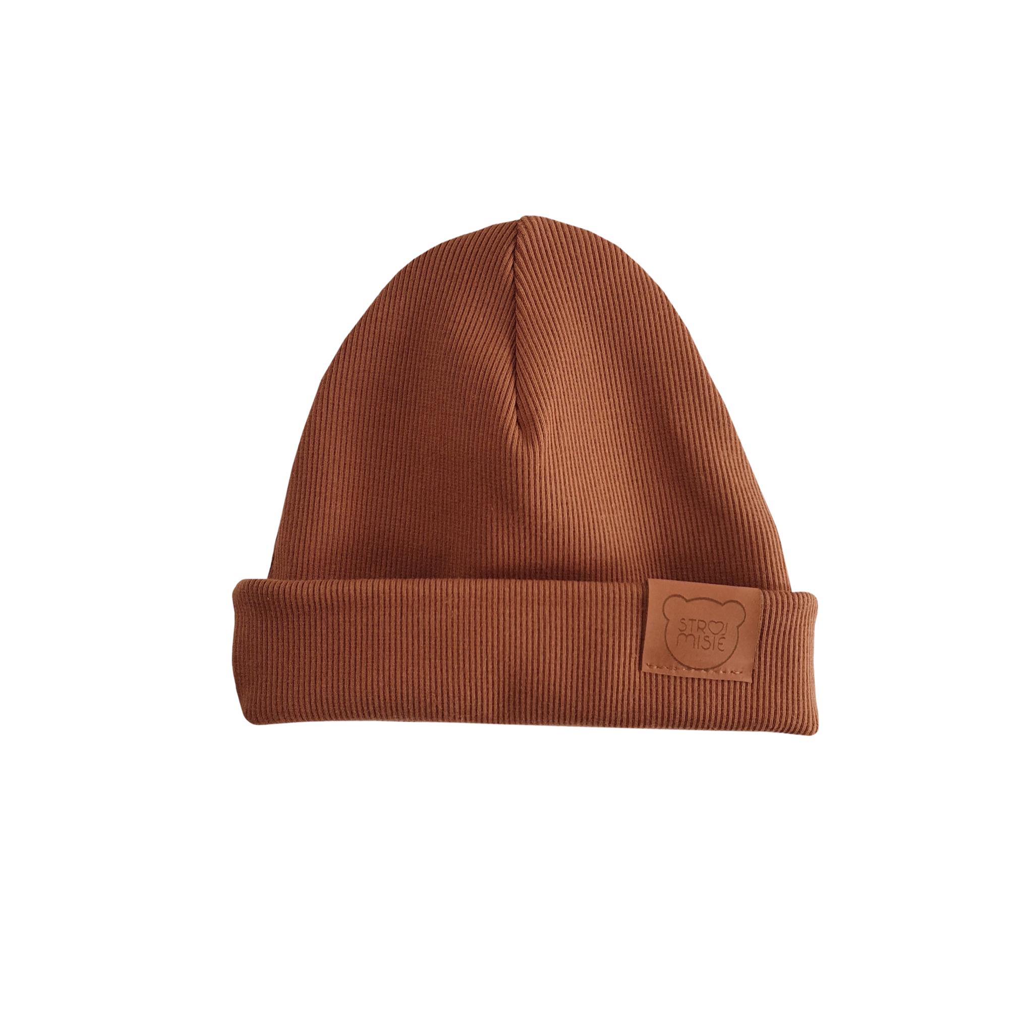 Strojmisie BROWN HAT | CHILDREN HAT CARAMEL | BABY HAT BROWN