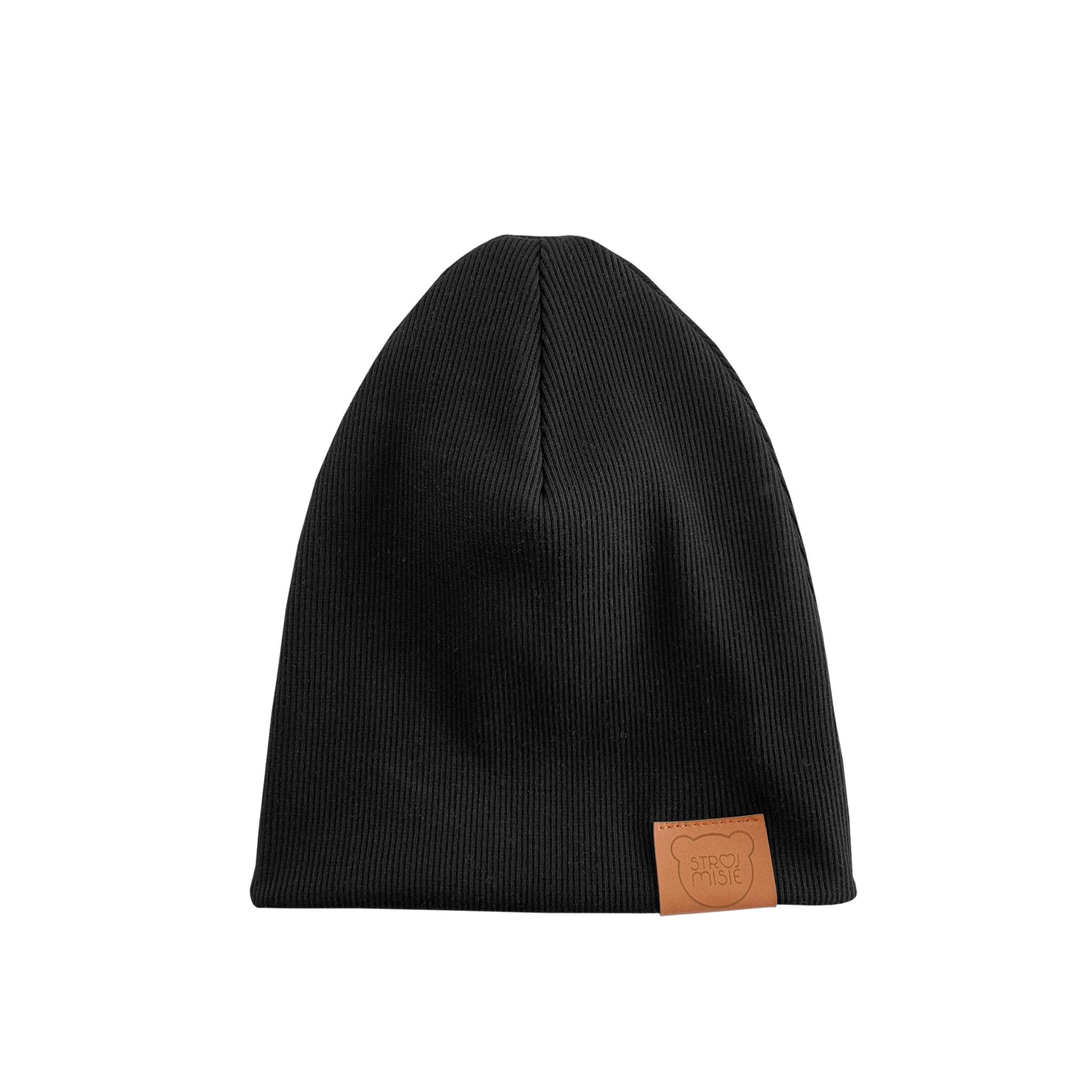 Strojmisie BLACK HAT | KIDS HAT BLACK | BABY HAT BLACK