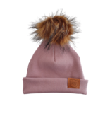 Strojmisie PINK BEANIE WITH POM | KIDS HAT DUSTY PINK | BABY HAT OLD PINK