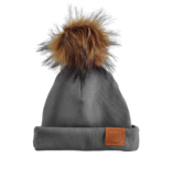 Strojmisie GRAY BEANIE WITH POM | KIDS HAT GRAY | BABY HAT GRAY