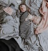 Wooly Organic GEKNOOPTE BABY SLAAPZAK | GEKNOOPTE SLAAPZAK | GESTREEPTE TRAPPELZAK
