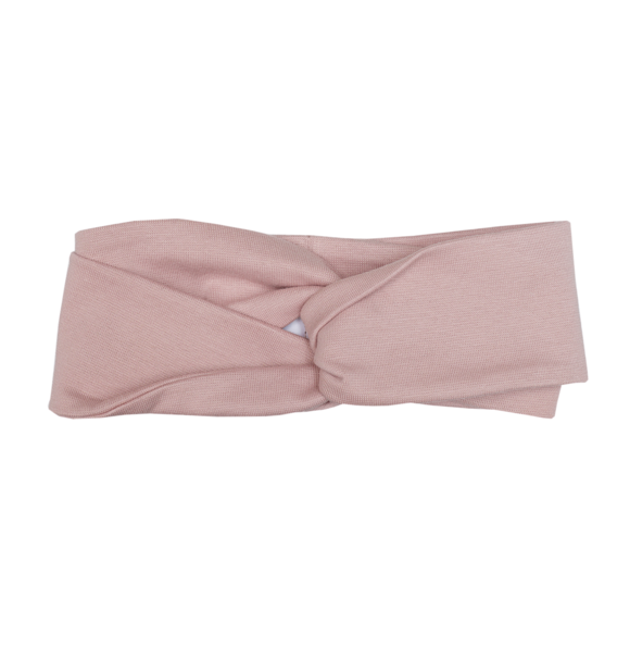 Wooly Organic TWISTED HEADBAND - DUSTY PINK