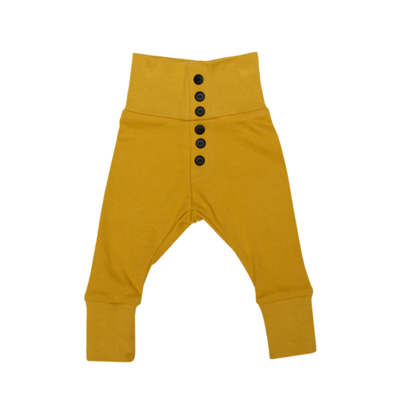 Wooly Organic BABY LEGGINGS - OCHER YELLOW