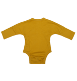 Wooly Organic KIMONO ROMPER | LONG SLEEVED BODYSUIT | OCHER YELLOW