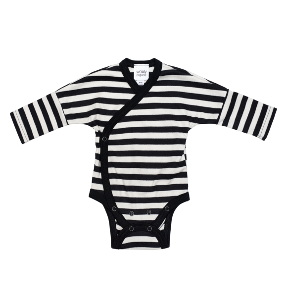 Wooly Organic BODYSUIT - BLACK AND WHITE