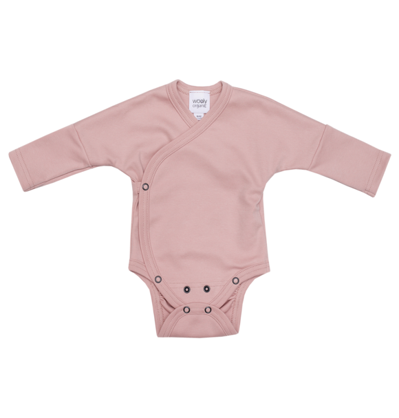 Wooly Organic ROMPER - DUSTY PINK