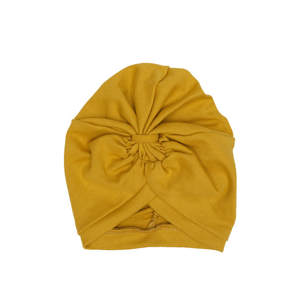 Wooly Organic BABY TURBAN HAT - OCHER YELLOW