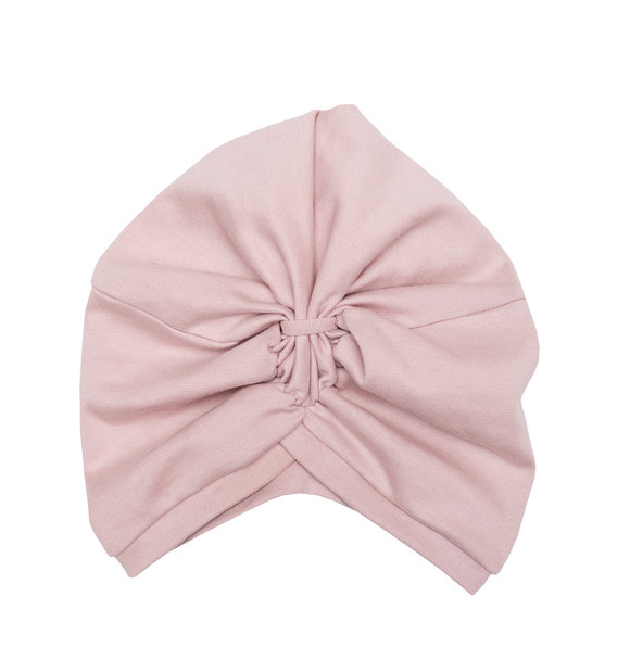 Wooly Organic BABY TURBAN MUTS  - DUSTY PINK
