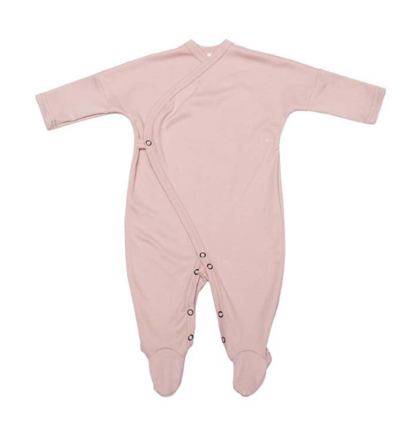 Wooly Organic SLEEPSUIT - DUSTY PINK