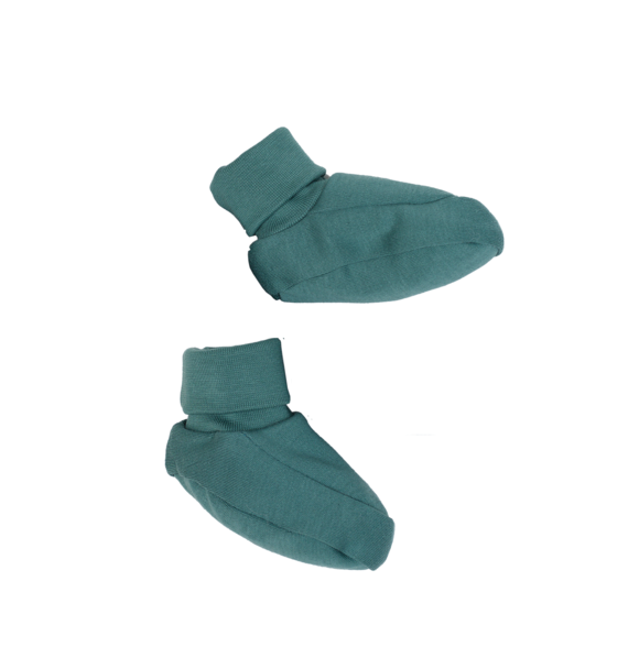 Wooly Organic BABY BOOTIES - SEA GREEN