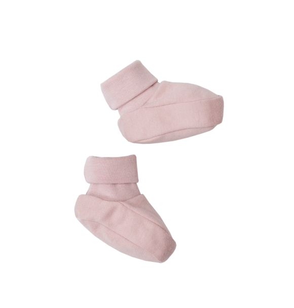 Wooly Organic BABY BOOTIES - DUSTY PINK