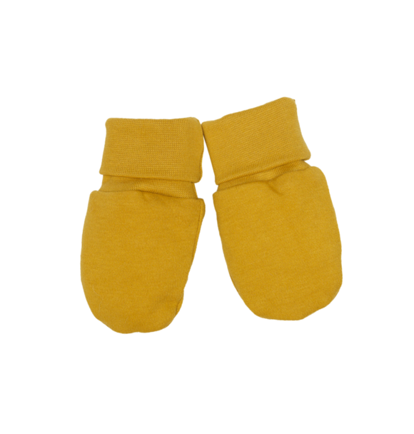 Wooly Organic BABY GLOVES - OCHER YELLOW