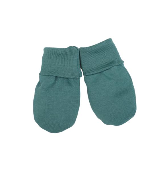 Wooly Organic BABY HANDSCHOENTJES - ZEEGROEN
