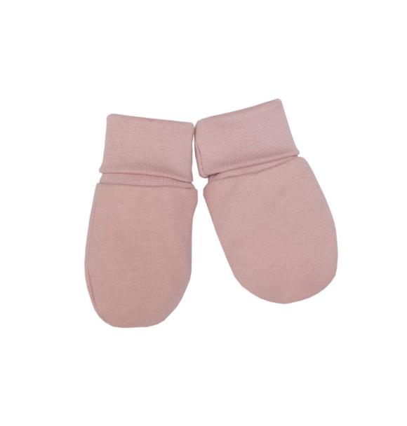 Wooly Organic BABY HANDSCHOENTJES - DUSTY PINK
