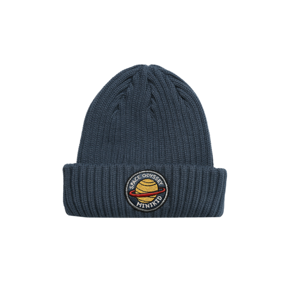 Minikid RIBBED BEANIE DARK PLANET