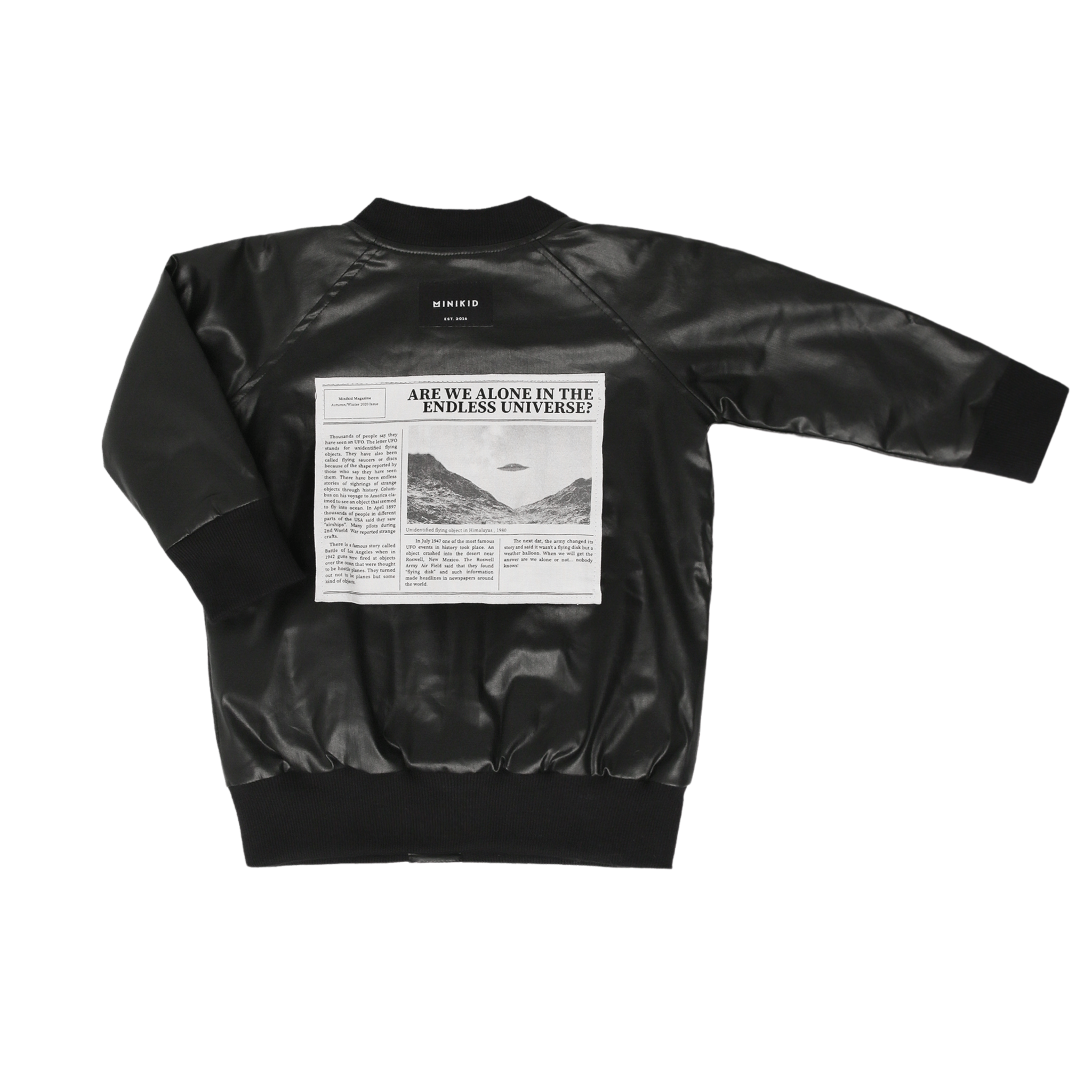 Minikid COOL BLACK JACKET FOR CHILDREN | REPELLENT IN-BETWEEN JACKET | MINIKID