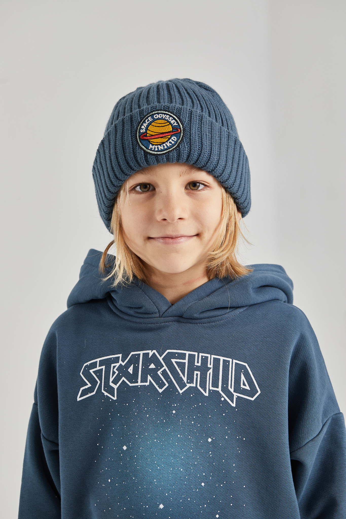 Minikid WARM BEANIE DARK BLUE | RIBBED HAT FOR KIDS | COOL CHILDRENS HAT