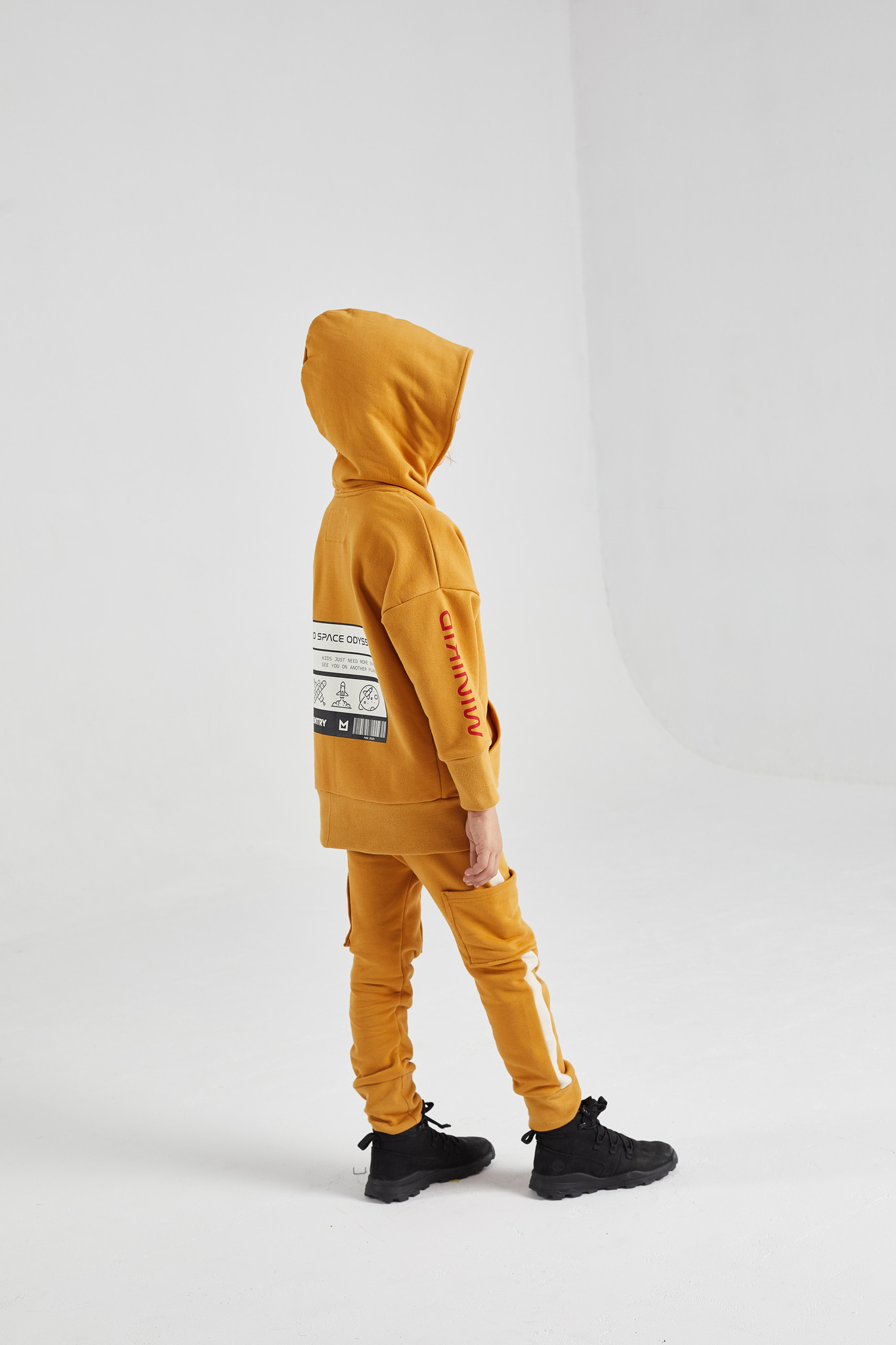 Minikid LONGER HOODIE | OCHER YELLOW HOODED CARDIGAN | MINIKID