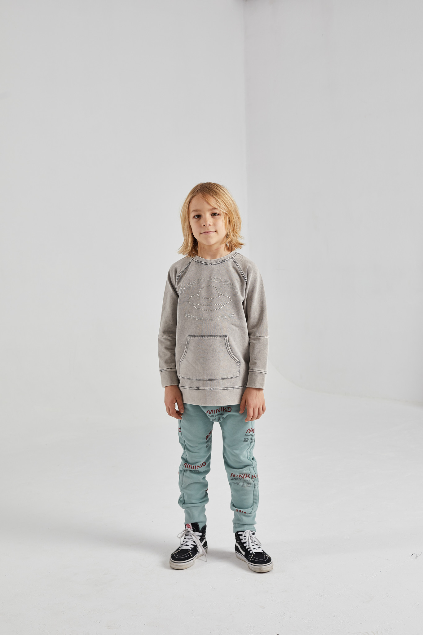 Minikid ACID GREY SWEATER | UNISEX SWEATER WITH FRONT POCKET | MINIKID