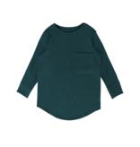 Minikid PETROL LONG SLEEVE | DARK GREEN LONG SLEEVED TEE | MINIKID KIDSWEAR
