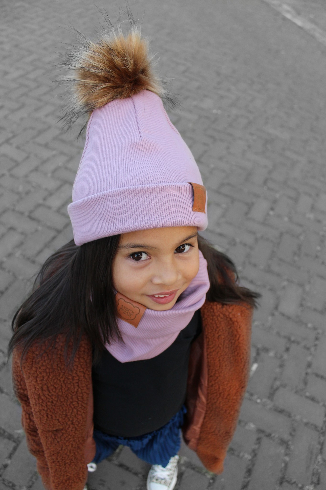 Strojmisie DUSTY PINK CHIMNEY SCARF | KIDS TUBE SCARF | BABY SNOOD