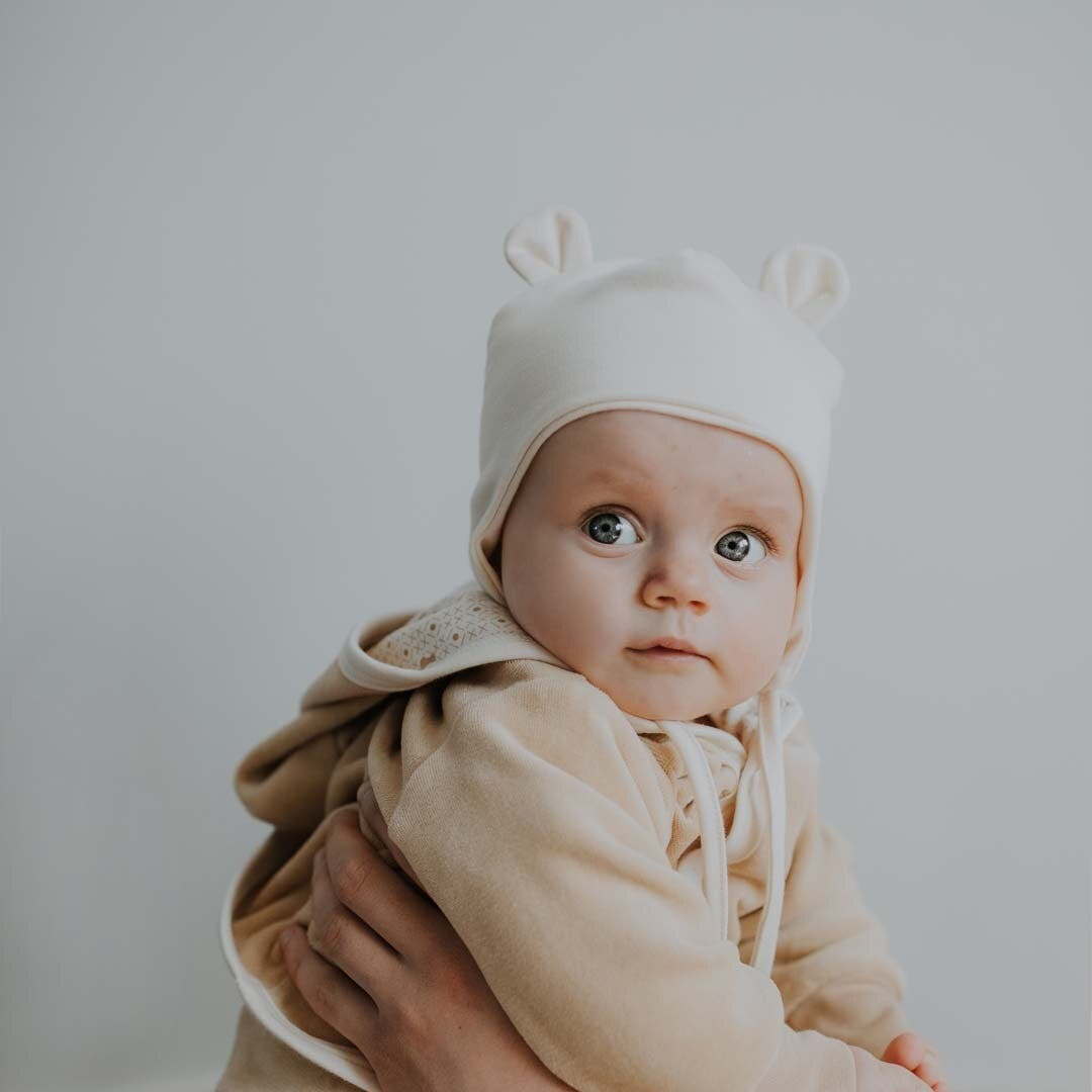 Wooly Organic NEWBORN BABY HAT | HAT FOR NEWBORN BABY | BEAR HAT