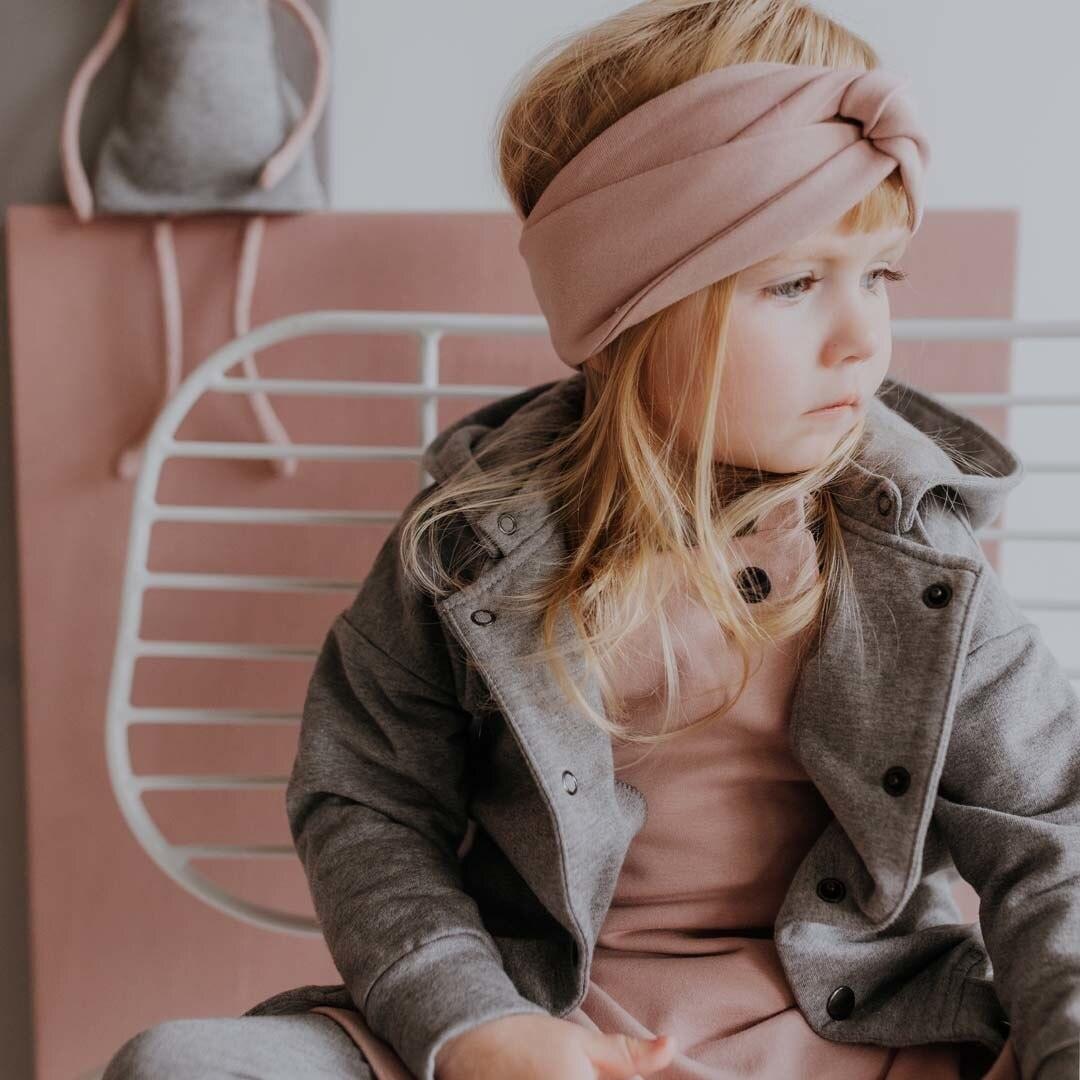 Wooly Organic CHILDREN'S HAIRBAND | HEADBAND FOR GIRLS | OCHER