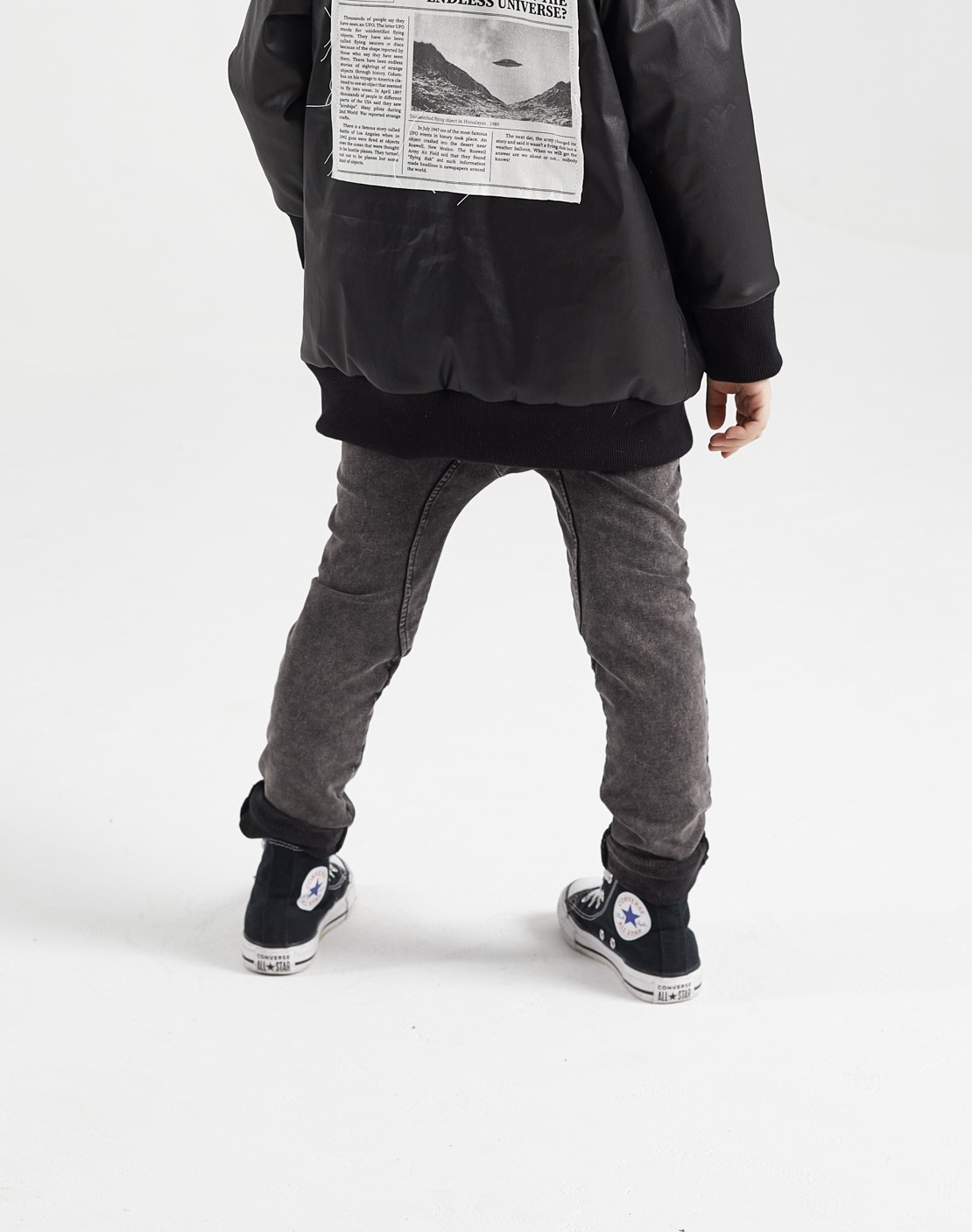 Minikid BLACK COMFORTABLE JEANS | JOGGER WITH WASHING | CHILDREN'S STREETWEAR ONLINE