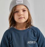 Minikid DONKER BLAUWE SWEATER | UNISEX TRUI MET VOORZAK | KINDERKLEDING