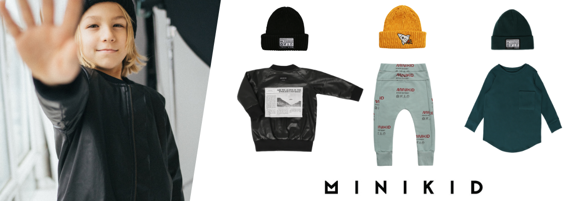 Minikid new streetwear childrens clothing collection online