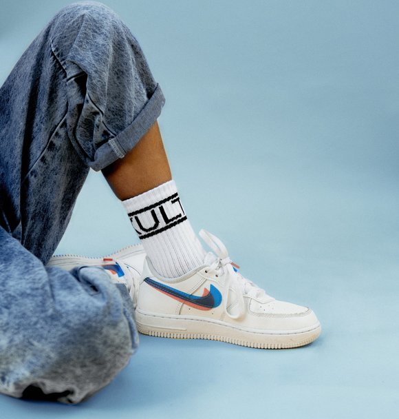 Kultkid WHITE LOGO SOCKS