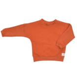 No Labels Kidswear UNISEX CHILDREN'S CLOTHING | TERRA RED OVERSIZED SWEATER FOR KIDS