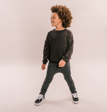 No Labels Kidswear UNISEX CHILDREN'S CLOTHING   BLACK OVERSIZED SWEATER   LOOSE FITTED SWEATER