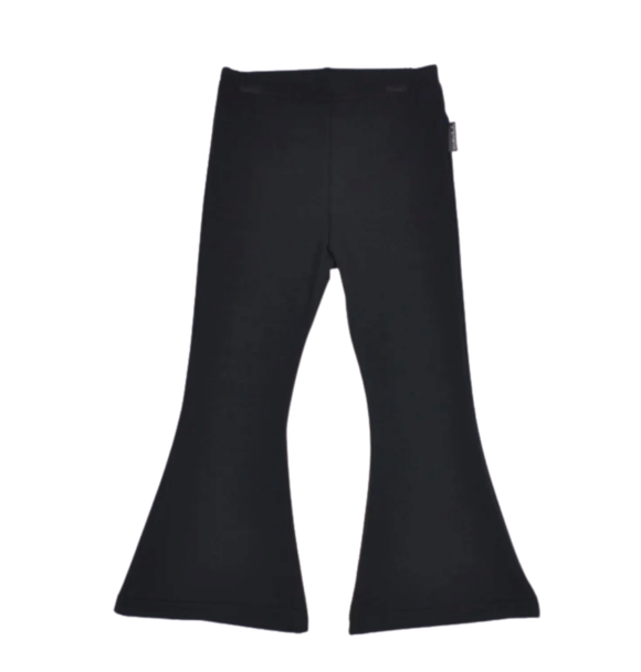 No Labels Kidswear FLARED PANTS BLACK