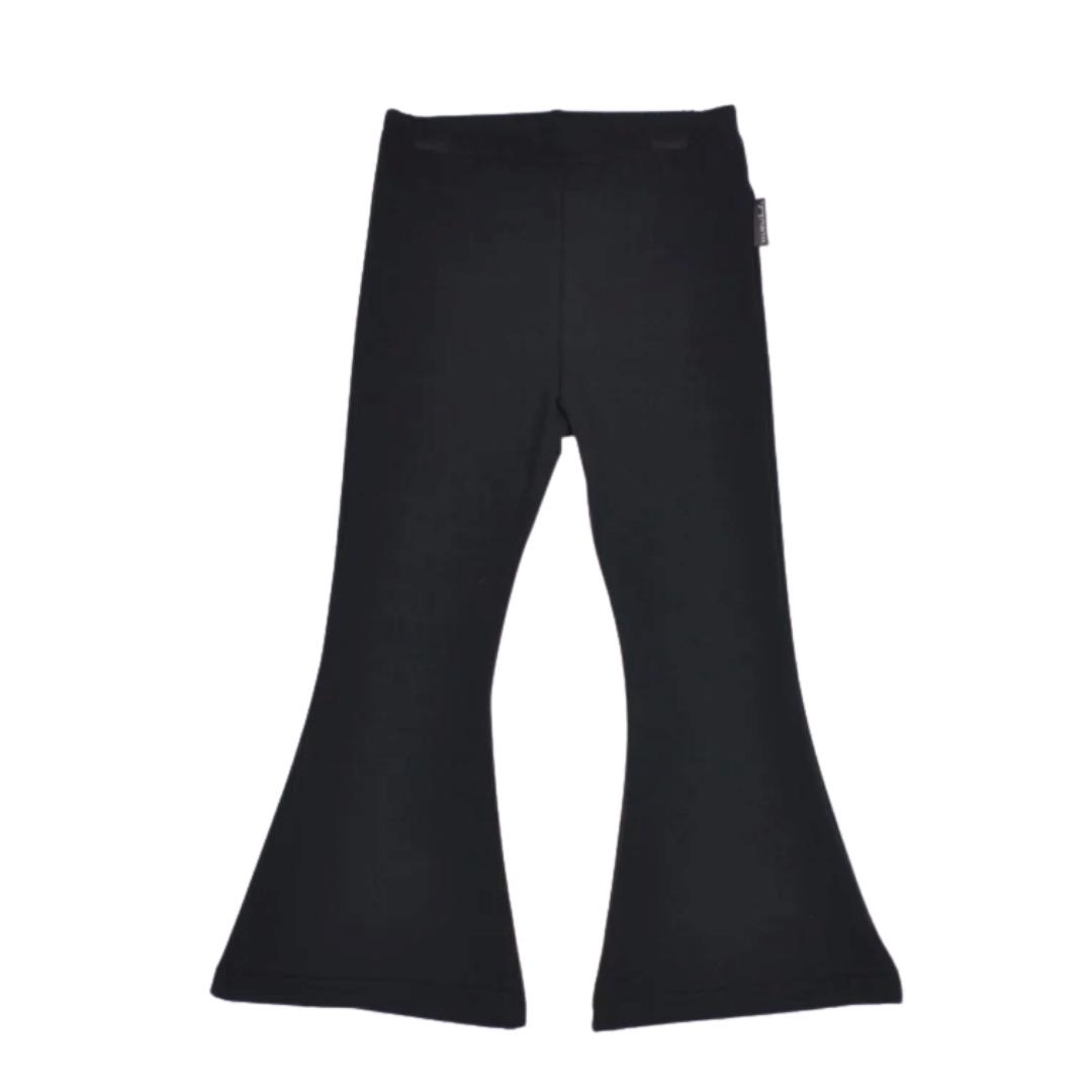 No Labels Kidswear BLACK FLARED PANTS   HANDMADE CLOTHING FOR GIRLS   kidswear
