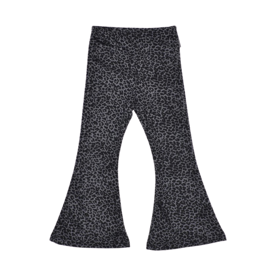 No Labels Kidswear FLARED PANTS WITH LEOPARD PRINT | COOL CLOTHING FOR GIRLS | kidswear