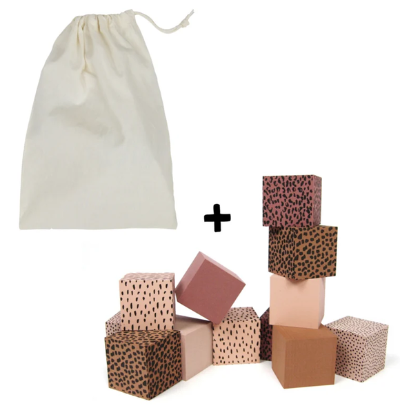 VanPauline PINK FOAM BLOCKS WITH STORAGE BAG