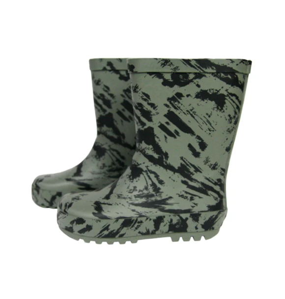 VanPauline RAINBOOTS GREEN DISTRESS