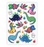 Ducky Street DINO TATTOO |  Sticker Kinder tatoeages met kerst thema